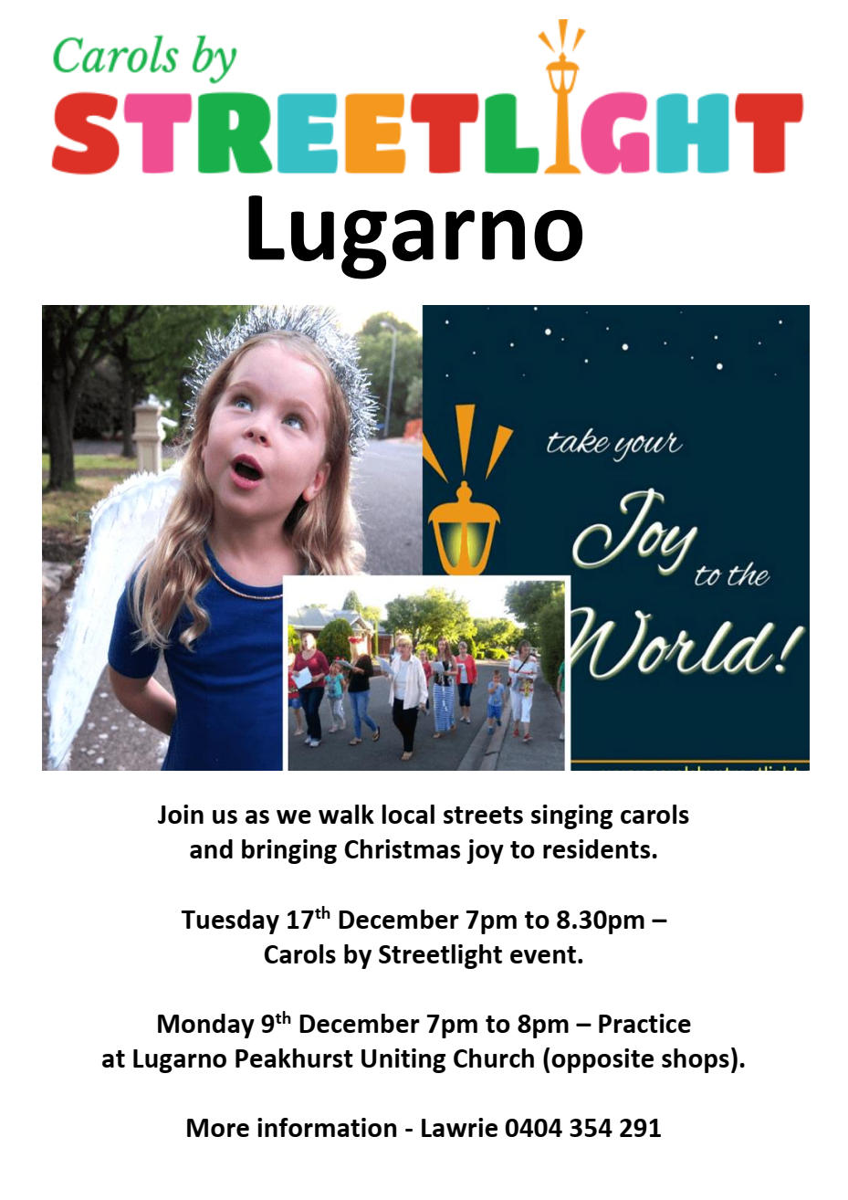 Carols by Streetlight - Event @ Lugarno Peakhurst Uniting Church